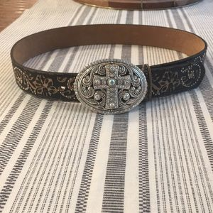 Justin leather western cowgirl cross belt